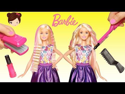 Barbie Riza Y Peina Muñeca Para Planchar Y Rizar Cabello
