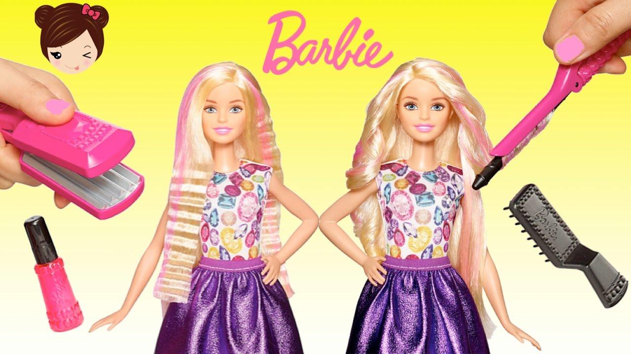 Barbie Riza Y Peina Muneca Para Planchar Y Rizar Cabello