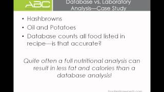 Menu Nutritional Labeling: What You Need to Know Now! ABC Research Laboratories