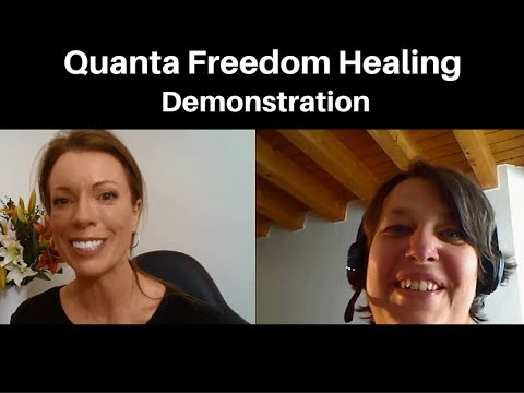 Quanta Freedom Healing Demonstration With Sandra From Switzerland