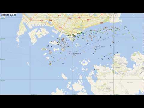 Collision between tanker Kartika Segara and dredger JBB De Rong 19 near Singapore, Sept. 13, 2017