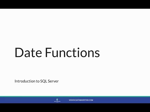 Introduction To SQL Server - Date Functions - Lesson 35