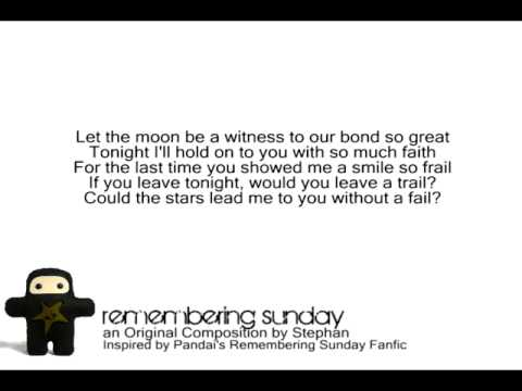 Remembering Sunday - Original Song