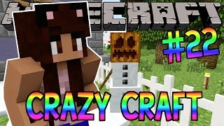 Minecraft: YouTuber Survival #22 - Snow Golems (Minecraft Crazy Craft 3.0 SMP)
