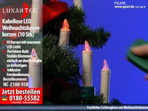 lunartec kabellose led weihnachtsbaumkerzen mit fernbedienung 10 stk youtube. Black Bedroom Furniture Sets. Home Design Ideas