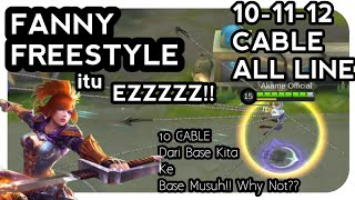 Fanny Tutorial 12 Cable all Line + 10 Cable Base To Base -  Mobile Legends Indonesia