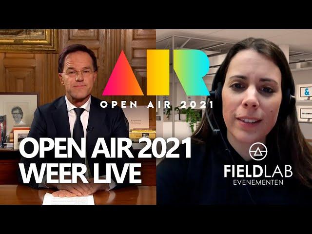 OPEN AIR 2021 LIVE in samenwerking met Fieldlab Evenementen