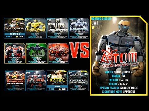 Real Steel WRB FINAL ALL WRB II VS ATOM ROBOTS Series of fights NEW ROBOT (Живая Сталь)