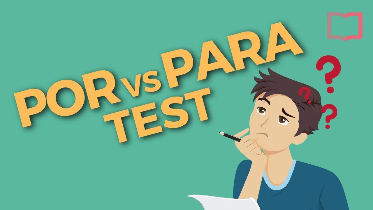Por Vs Para Quiz Test Your Spanish Grammar Knowledge Youtube