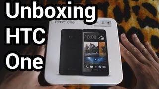 Unboxing HTC One negro