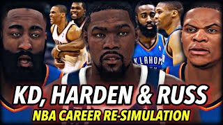 DURANT, WESTBROOK & HARDEN CAREER RE-SIMULATION... BUT THEY CAN'T LEAVE THE THUNDER. | NBA 2K20