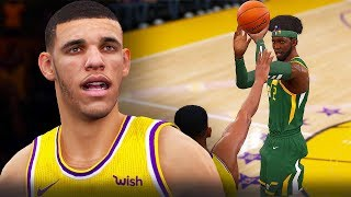 NBA Live 19 The One Career   LONZO BALL JUMPSHOT CHALLENGE! CRAZY CONTESTED THREES FROM DEEP!