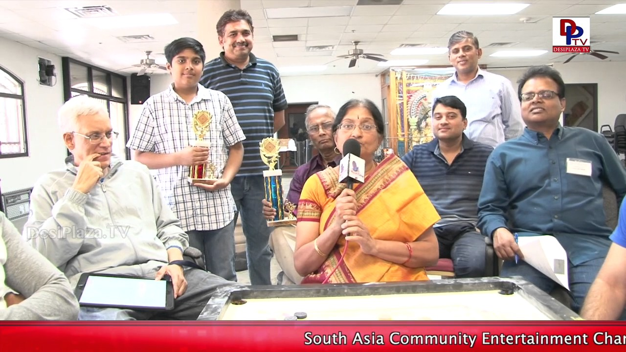 Harini Srikanth, Organizer of DFW Temple 3rd Carrom Tournament speaks to DesiplazaTV || Dallas