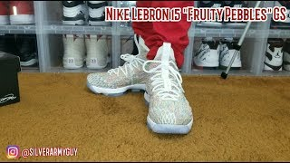 """On Feet Only 4K! Nike Lebron 15 """"Fruity Pebbles""""! LB15 """"Cereal""""!"""
