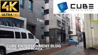 [4K] Walking to Cube Entertainment Building (Home to BtoB and CLC) in Seoul,