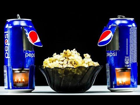DIY Amazing Popcorn Machine from Pepsi Can