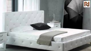Monte Carlo Leatherette Modern Bed With Crystals Vgkcmonte-wht From Vig Furniture