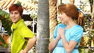 Peter Pan and Wendy Darling Tell Us a Joke at Disney World 2014