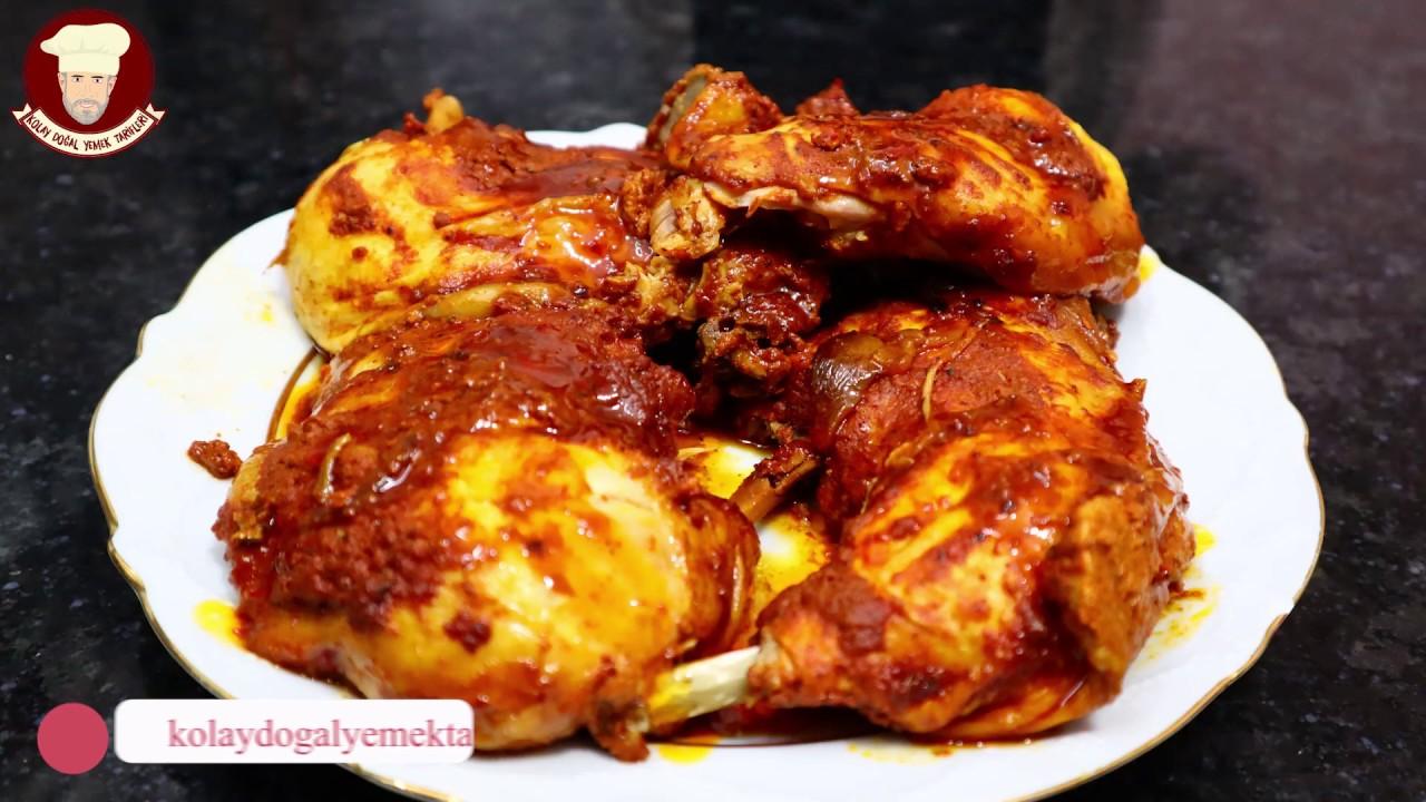 EVDE DÜDÜKLÜ TENCEREDE SUSUZ TAVUK TANDIR (Pressure Cooker Tandoori Chicken)