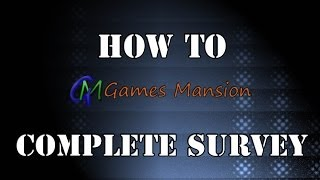 How to complete Survey thumbnail