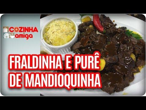 Fraldinha Na Pressão Com Purê De Mandioquinha - Michelle Francine| Cozinha Amiga (17/11/17)