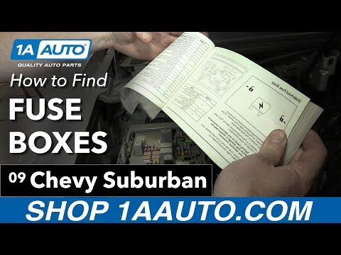 How to Find Your Fuse Boxes on a 07-14 Chevy Suburban - YouTubeYouTube