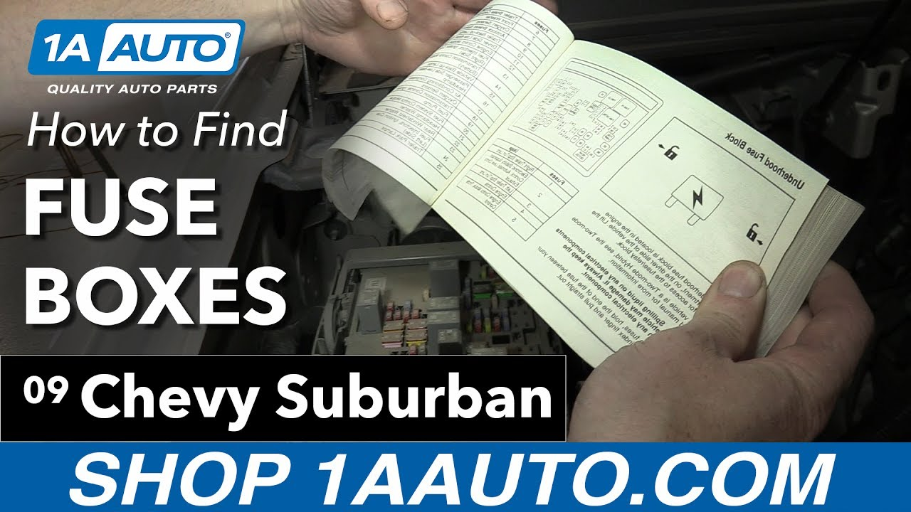 how to find your fuse boxes on a 07 14 chevy suburban