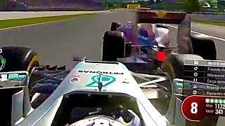 INTENSE BATTLE ALL RACE OVER THE WIN! - F1 Game Online League Race