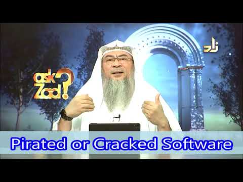 Cracked Or Pirated Software Or Downloading Books Online - Assim Al Hakeem