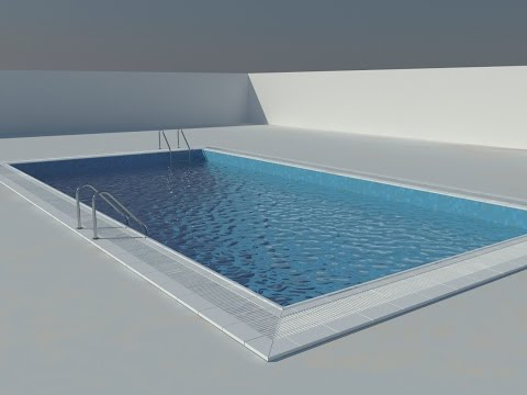 [Hindi] How to make swimming pool material in 3ds max vray