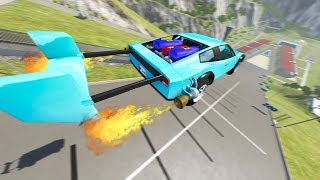 500 MPH ROCKET CAR VS CAR JUMP ARENA! - BeamNG Drive DH Hyper Bolide Car Mod