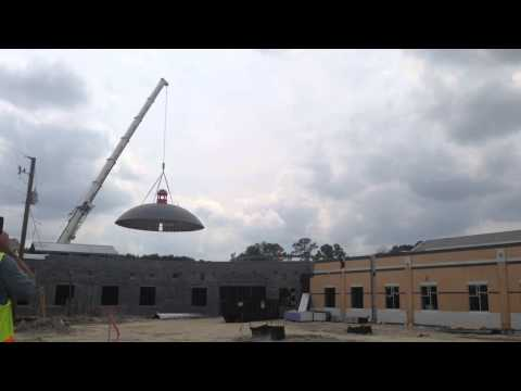 Dome Placed On Cardinal Newman School
