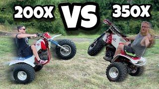 350x vs 200x | Honda ATC 350X vs Honda ATC 200X