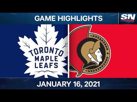 NHL Game Highlights | Maple Leafs vs. Senators - Jan. 16, 2021