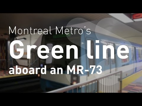 Montreal Metro's Green line aboard an MR-73