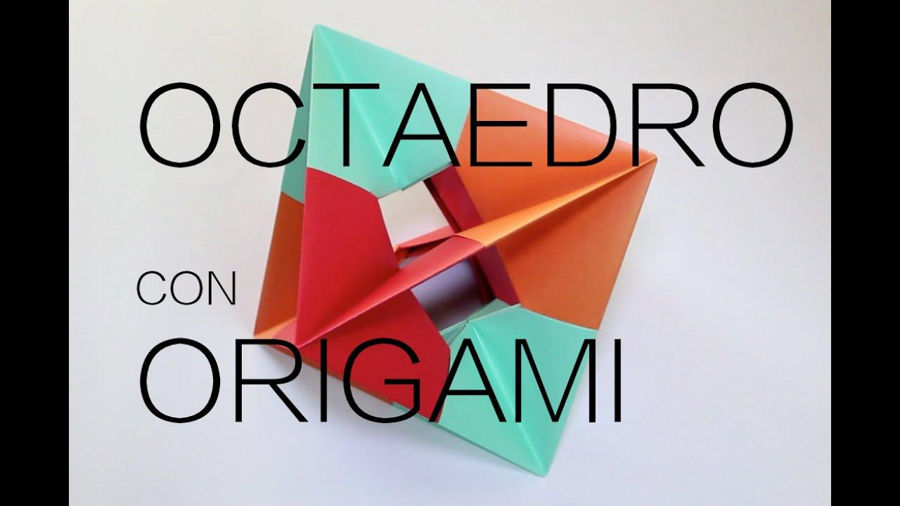 Hacer un octaedro origami youtube - Como hacer un cono ...