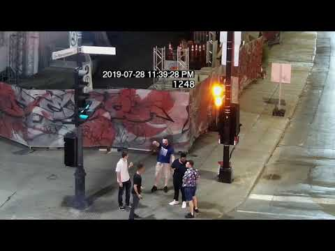 Surveillance footage of altercation preceding fatal 2019 stabbing in downtown Montreal