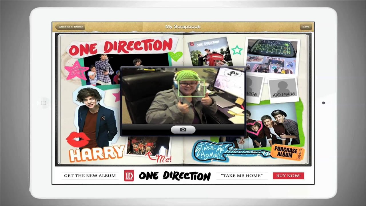 One Direction Scrapbook App For Ipadiphone Youtube