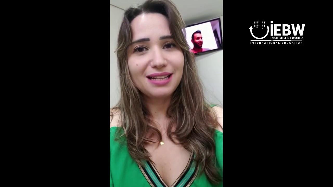 Comentário Aluna Annie Michelli Rocha Soares Silva, aluna formada como Trader profissional IEBW