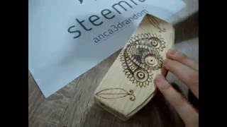 Hy guys! Enjoy this video of me wood burning this napkin holder.