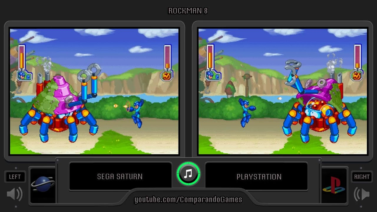 Rockman 8 Sega Saturn Vs Playstation Side By Side