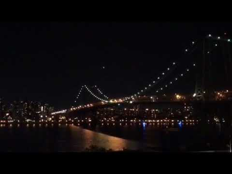 NYPD Helicopters boats Williamsburg Bridge Man Climbing Night B4 Sept 11 Anniversary