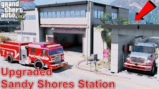 Video GTA 5 Firefighter Mod - Sandy Shores Fire Station Mega Upgrade & New Firetrucks download MP3, 3GP, MP4, WEBM, AVI, FLV November 2018
