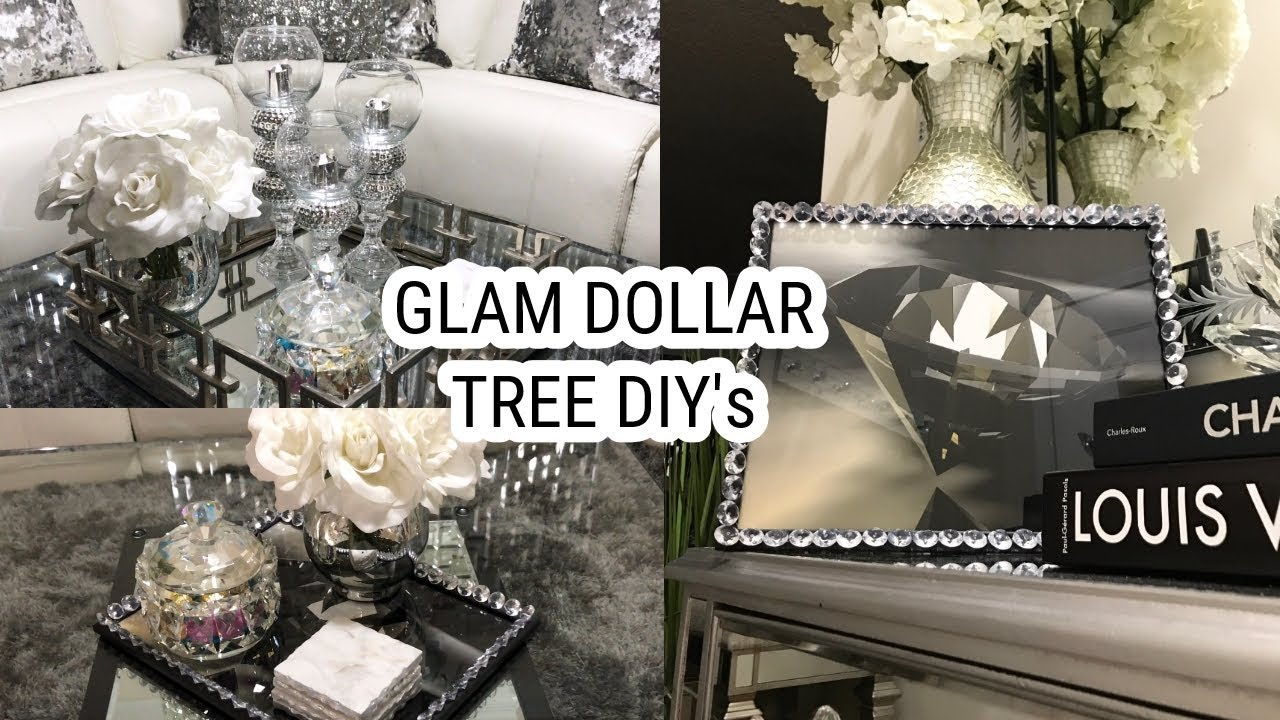 Dollar Tree DIY Home Decor Ideas | Glam Mirror Coffee Table Decor