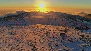 Snowy Alpine Mountains Landscape Aerial Panorama | Stock Footage - Videohive