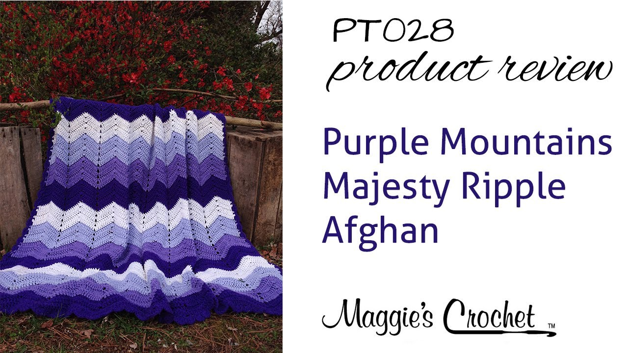 Purple Mountains Majesty Ripple Afghan Crochet Pattern Product ...