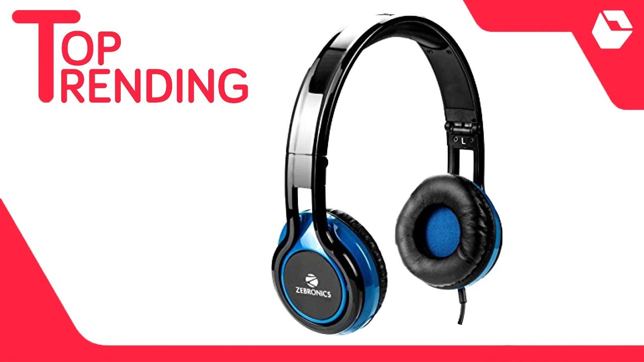 6b0bd1e1cfd Zebronics ZEB-BUZZ Over Ear Wired Headphones With Mic - YouTube