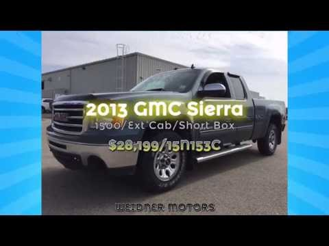 2013 GMC Sierra 1500 Extended Cab Short Box Blue Grey/Gray / Unit 15N153C