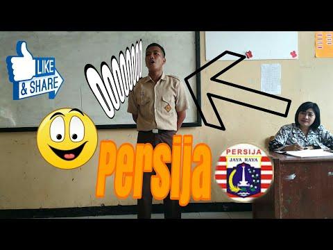 Keren!! Pelajar nyanyi lagu Persija di depan gurunya (SMP N 03 L)