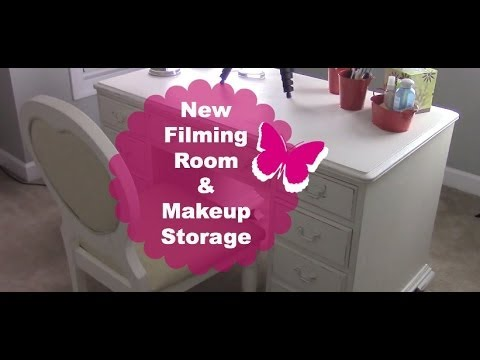 New Filming Room | Makeup Organization & Storage + Chit Chat!